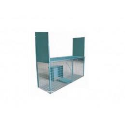 Jaula Armadilha 2 Entradas C/Caixa Isco 150x40x60cm