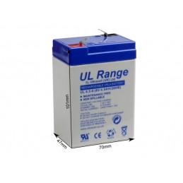 Bateria recarregável 6V 4,5 Ah