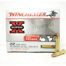 Win Mun 22 WM Super-X 40gr FMJ