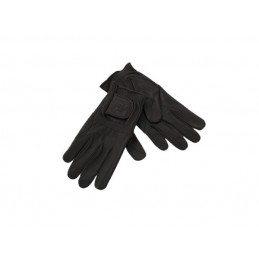 Luvas Leather Gloves - Pretas