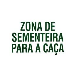 """Placa Especial """"Zona Sementeira para a caça"""""""