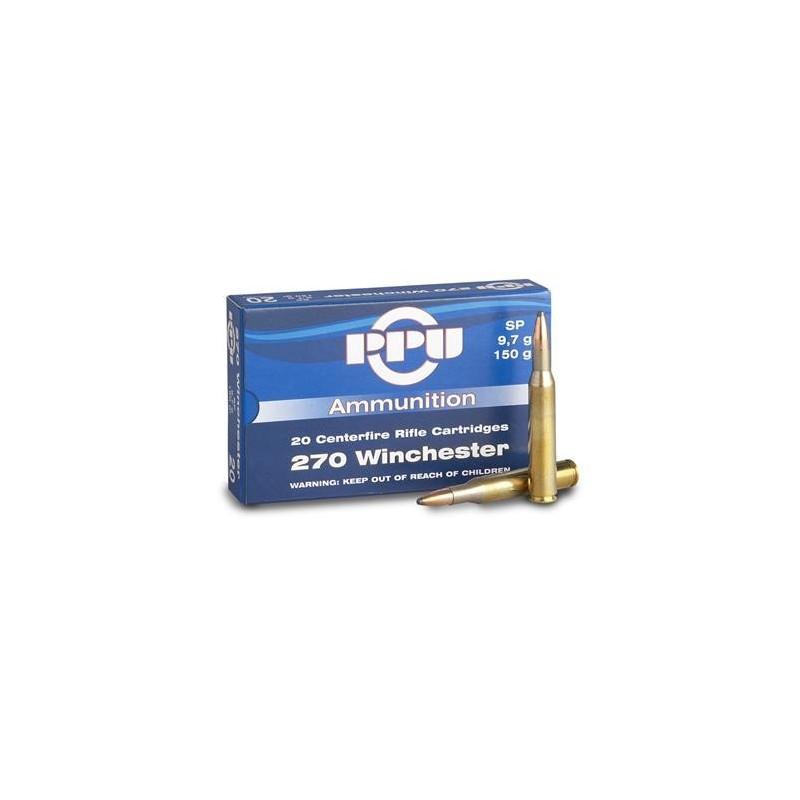 Munição PPU 270W 150Grs SP