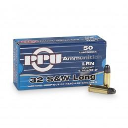 Munição PPU 32 SEW Long 98grs LRN