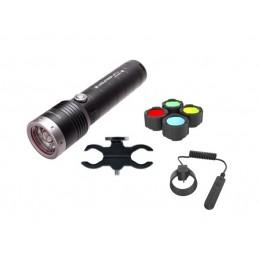 Kit Caça Lanterna Ledlense MT14 - 1000LM