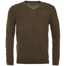 Camisola barbour Lambswool V-Neck Olive
