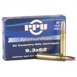 Munição PPU 9.3x62 285grs SP
