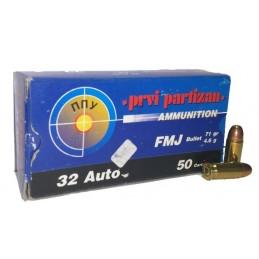 Munição PPU 7,65R 175gr TM/SP