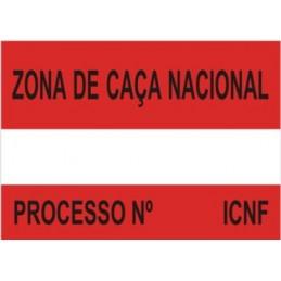 Placa Sinalética Modelo 1 (ZCN)