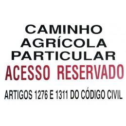 """Placa Especial """"Caminho..."""