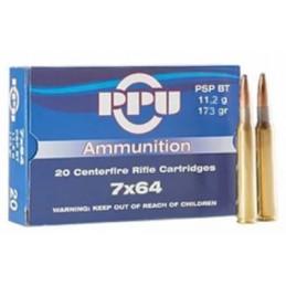 Munição PPU 7X64 SP 173gr