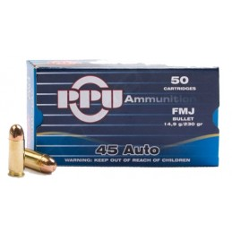 Munição PPU 45ACP 230grs FMJ
